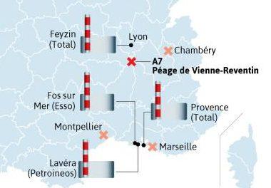 Routiers: la raffinerie de Feyzin et le péage de Reventin pourraient être bloqués lundi