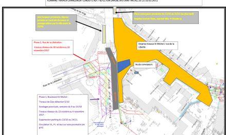 Prévus pour durer un mois: importants travaux annoncés boulevard Saint-Michel