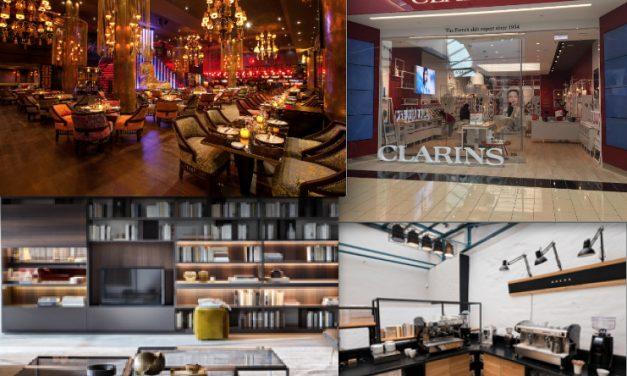 Le Grand Hôtel-Dieu à Lyon au complet avec six dernières enseignes dont Clarins, Buddha Bar, Café Mokxa, etc.