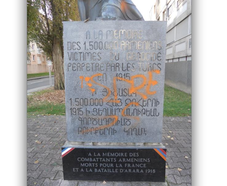 La stèle de Vienne dédiée aux victimes du génocide des Arméniens profanée
