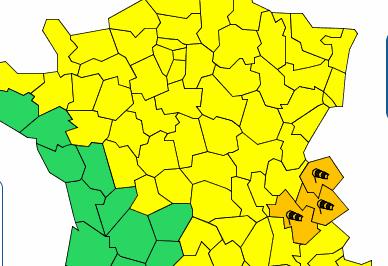 L'Isère placée en vigilance orange «vents violents»