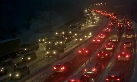 Trafic routier perturbé par la neige ce matin