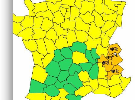 Météo France lance une alerte orange à la neige et au verglas:  prenez vos précautions