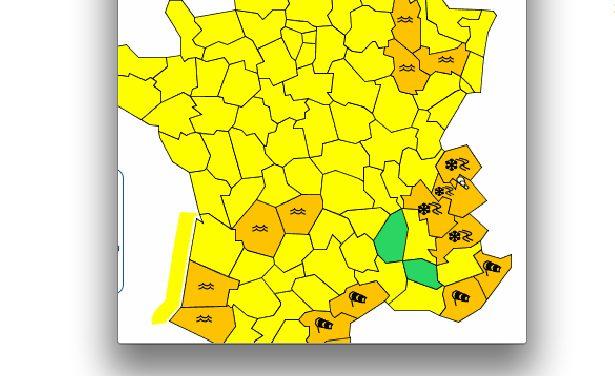 Le Nord-Isère concerné: Météo France lance une alerte orange à la neige et au verglas en Isère