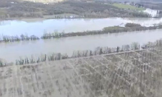 Vidéo: les images des plaines du Nord-Isère volontairement inondées pour épargner Lyon