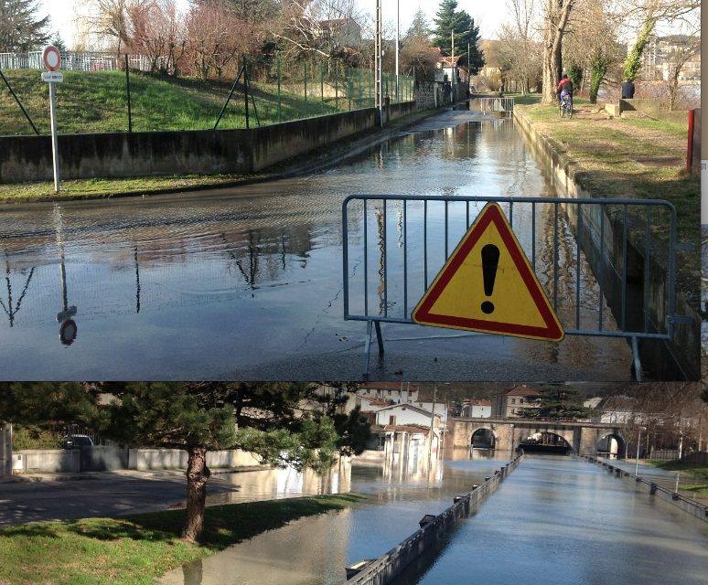 Inondation: Vienne et Saint-Romain-en-Gal commencent à avoir les pieds dans l'eau…