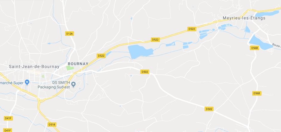 Collision entre une voiture et un car scolaire près de Meyrieu-les-étangs: deux blessés dont un grave