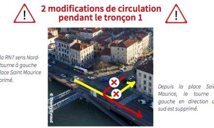 Voie verte sur les quais du Rhôneà Vienne : du 13 au 15 février, les travaux font nocturne…
