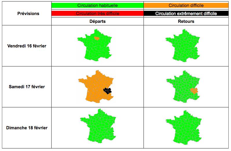 Circulation: Bison Futé hisse le drapeau noir samedi en Rhône-Alpes
