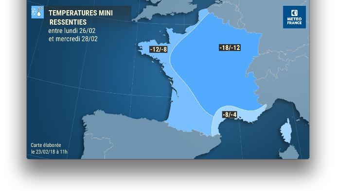Le Moscou Paris arrive: des températures «ressenties» annoncées sous les – 10 degrés…