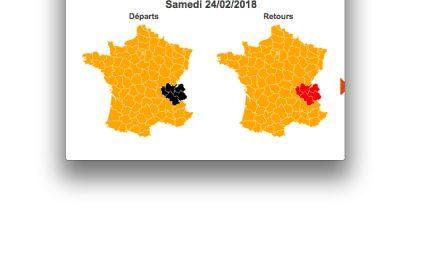 Circulation très difficile attendue: un samedi en rouge et noir dans la région Rhône-Alpes