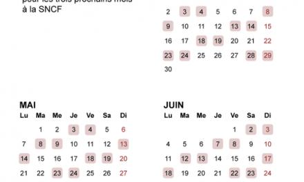 Trente-six jours au total, grève perlée annoncée à la SNCF : le calendrier des perturbations