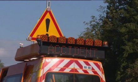 Le bretelle d'accès de l'A7 à Vienne, fermée jeudi soir