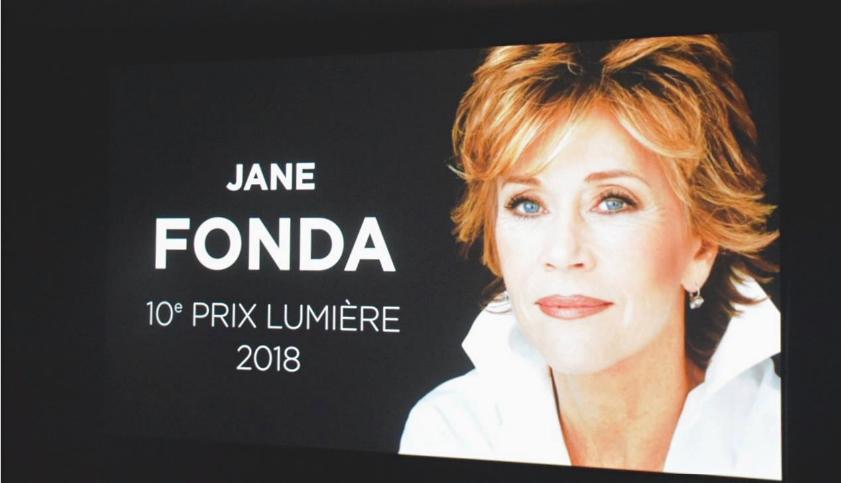 Jane Fonda, Prix Lumière 2018, lors du Festival qui se déroulera du 13 au 21 octobre