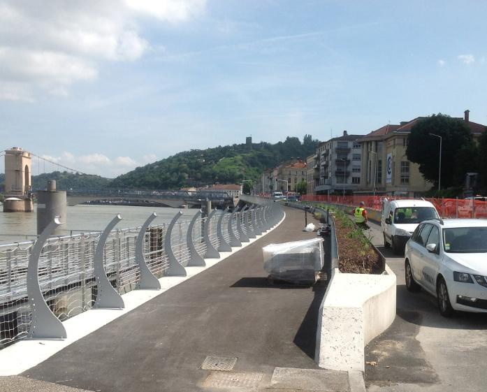 Voie verte à Vienne : alors que le 1er tronçon sera inauguré le 9 juillet, les travaux repartent de plus belle