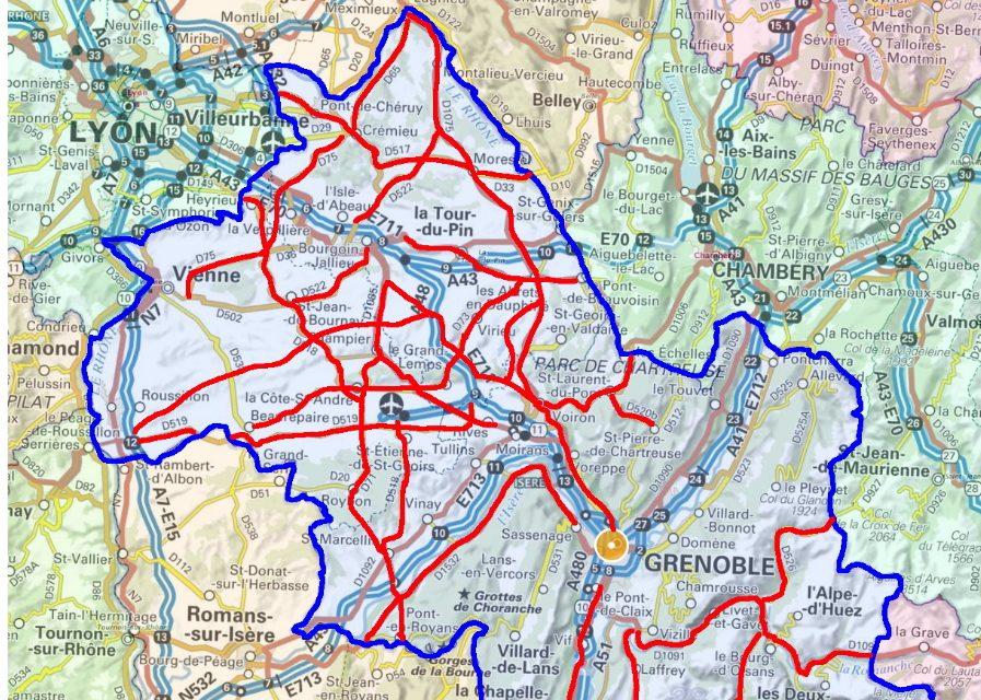 Nord-Isère: la carte des routes les plus accidentogènes