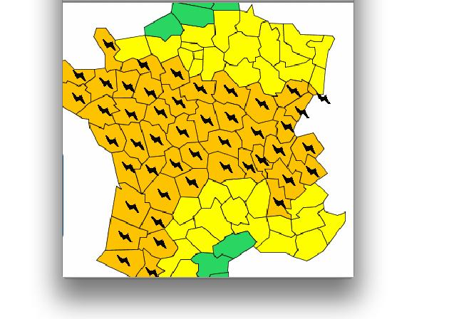 Cet après-midi et cette nuit: l'Isère et le Rhône en alerte orages