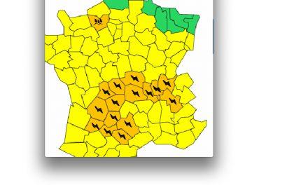 L'Isère et le Rhône à nouveau en vigilance orange aux orages