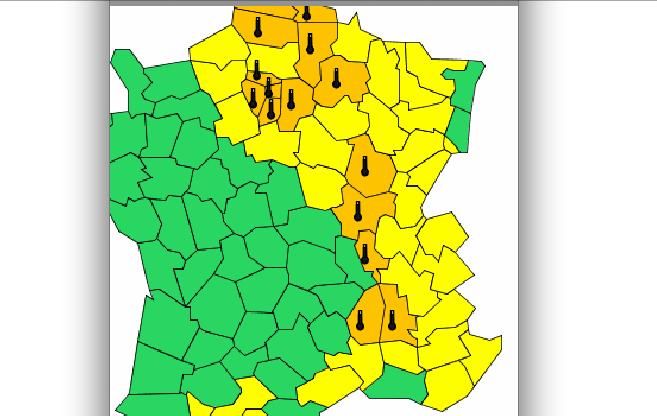 Le Rhône et la vallée du Rhône placés en alerte orange canicule par Météo France