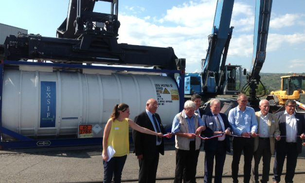 Direction, l'Espagne: une ligne fluvio-maritime inaugurée au port de Vienne Sud, à Salaise