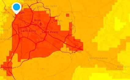 Épisode de pollution de l'air aux particules fines actuellement en cours à Lyon et dans le Nord-Isère