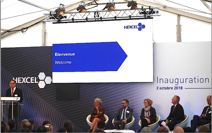 La nouvelle usine Hexcel de Salaise inaugurée par la ministre du Travail qui effectue un détour par Vienne