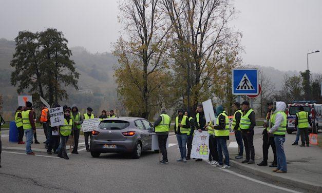 Mouvement des gilets jaunes à Vienne ce matin: 2 incidents, des ralentissements, mais pas de bouchon