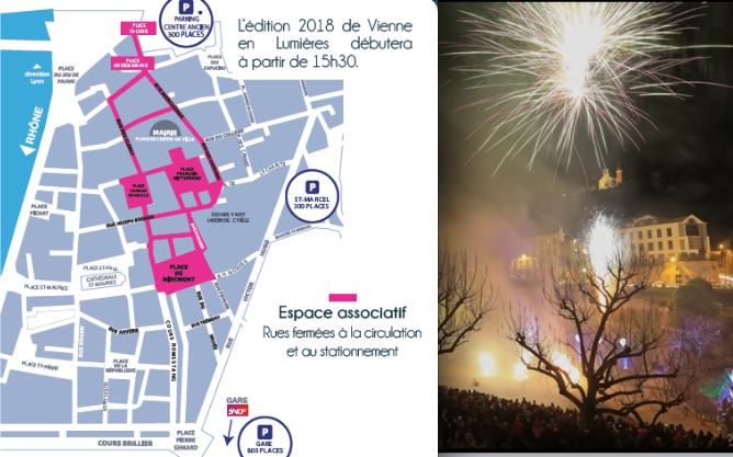 8 décembre à Vienne: gondoles vénitiennes, animations, vitrines animées et une Pyramide en rouge et d'or…