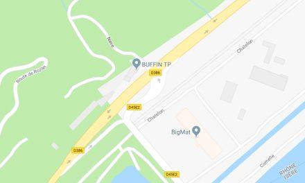 Des feux tricolores sur la RN 386 à la sortie du barrage de Reventin-Vaugris?