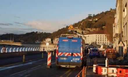 Méga-bouchons à Vienne cet après-midi, suite à une fuite de gaz, le quai Jean-Jaurés fermé