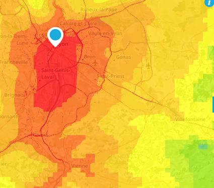 Pollution de l'air à Lyon et dans le Nord-Isère: abaissement de la vitesse de 20 km/h sur tous les axes routiers