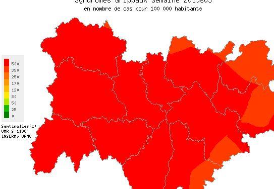 Grippe: Auvergne-Rhône-Alpes, 3ème région la plus touchée en France où déjà 1 100 décès sont comptabilisés