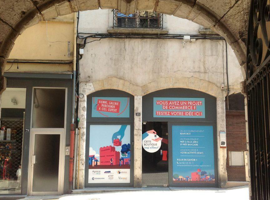 Lancement d'un appel à candidatures pour la 2ème «boutique test» de la rue Marchande à Vienne