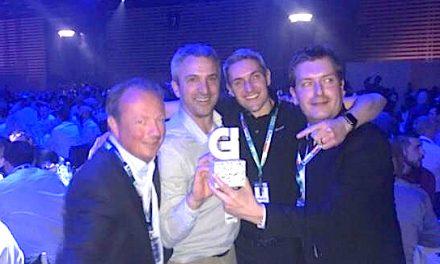 Yannick Tregouët (Eyzin-Pinet) reçoit le trophée de l'innovation au salon Global Industrie pour une 1ère mondiale