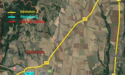 A Reventin-Vaugris et Chonas l'Amballan : un mois de travaux de rénovation de la RN7 qui s'annoncent contraignants