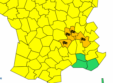 Alerte orange ce soir et cette nuit au vent violent dans le Rhône et le Nord-Isère