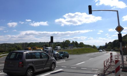 Carrefour «Buffin» au barrage de Reventin-Vaugris sur la D386 : les feux tricolores opérationnels le 20 mai