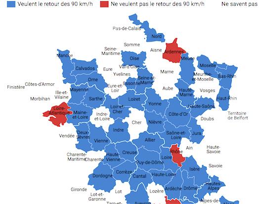 OK pour l'Isère, la Loire, la Drôme…: pour l'instant, en Auvergne-Rhône-Alpes, seul le Rhône refuse le retour aux 90 km/h
