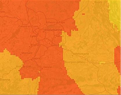 Rhône et Nord-Isère : avec les grosses chaleurs revoici la pollution à l'ozone et la réduction de la vitesse