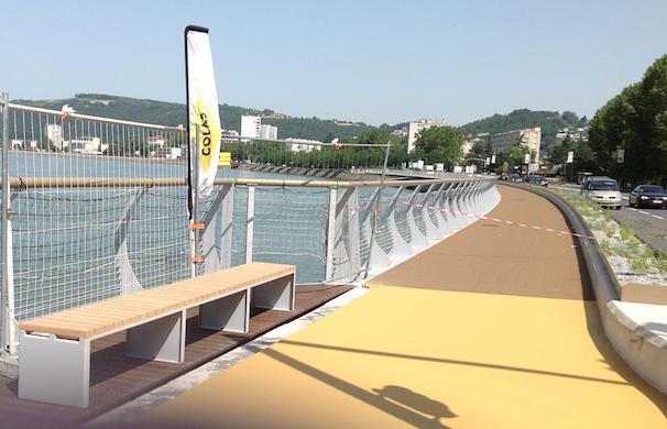 Après un an et demi de travaux et de bouchons : la voie verte  de Vienne inaugurée le lundi 8 juillet