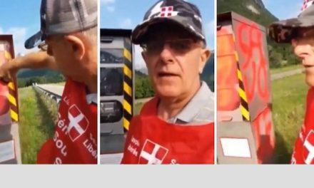 Un indépendantiste savoyard se filme en train de taguer un radar… à visage découvert !