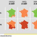 Bison Futé voit rouge samedi dans le sens des retours en Auvergne-Rhône-Alpes et orange aujourd'hui