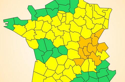 L'Isère, après le Rhône, passe en alerte orange aux orages