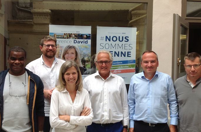 Municipales : candidate LREM, Florence David inaugure sa permanence de campagne cours Romestang à Vienne