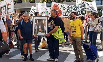 Le portrait d'Emmanuel Macron prêté par Thierry Kovacs aux Gilets Jaunes prend un tour national