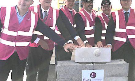 Pose de la 1ère pierre d'Intralogistics à Chasse-sur-Rhône : 200 emplois à venir pour développer l'industrie du futur
