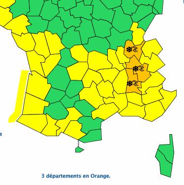 Météo France met l'Isère en alerte orange neige et verglas