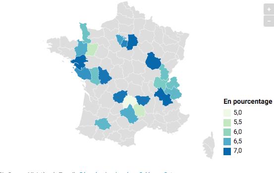 Avec 7 %, l'Isère fait partie des 24 départements français où le taux de chômage est le plus faible