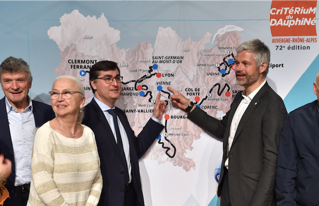 Vienne, ville de départ, le 4 juin, de la 5ème étape du Critérium du Dauphiné