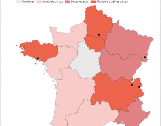 Coronavirus : 12 cas désormais dans le Rhône, 3 patients dans la Drôme
